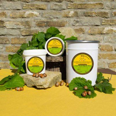 Crema Bacio con Nocciole a Quarti di Nocciola Piemonte IGP