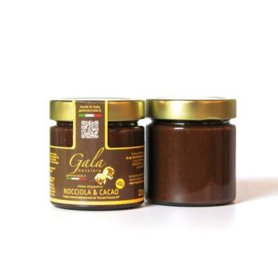 crema spalmabile nocciola e cacao fondente delle langhe igp