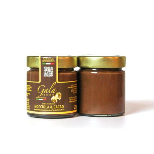 crema spalmabile nocciola e cacao delle langhe igp